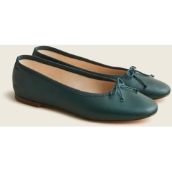 Zoe Ballet Flats In Leather - Green - J.Crew Flats found on Bargain Bro Philippines from lyst.com for $128.00