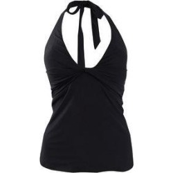 DKNY Women's Twist-Front Halter Tankini Top (XS, Black) - XS (Black - XS)(nylon) found on Bargain Bro Philippines from Overstock for $39.91