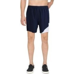 Asics Mens Shorts Workout Running (Navy/White - XL), Men's, Blue/White(polyester) found on MODAPINS from Overstock for USD $14.09
