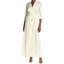 Sunset Jacquard Wrap Midi Dress - Natural - Baldwin Denim Dresses found on MODAPINS from lyst.com for USD $60.00