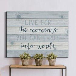 Trinx Moments into Words - Wrapped Canvas Textual Art Print Metal in Blue/Brown, Size 30.0 H x 40.0 W x 1.5 D in   Wayfair found on Bargain Bro Philippines from Wayfair for $89.99