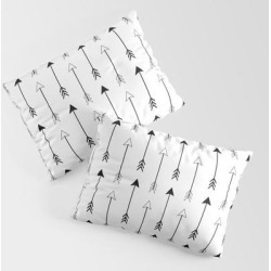 Pillow Sham   Black And White Arrows Pattern by Sierra Gallagher - STANDARD SET OF 2 - Cotton - Society6 found on Bargain Bro from Society6 for USD $30.39