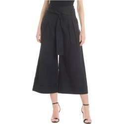Wide Black Crop Trousers - Black - Fuzzi Pants found on MODAPINS from lyst.com for USD $156.00