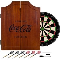 Coca Cola Collectible Vintage Wooden Dart Board Cabinet (coke), Brown, Trademark Gameroom found on Bargain Bro Philippines from Overstock for $108.37