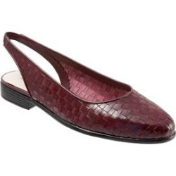 Extra Wide Width Women's Lucy Slings by Trotters in Black Cherry (Size 8 WW) found on Bargain Bro Philippines from Woman Within for $94.99