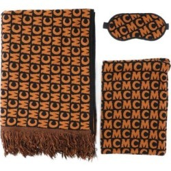 Logo Fringe Scarf Set - Brown - MCM Scarves found on MODAPINS from lyst.com for USD $483.00