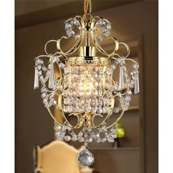 Warehouse of Tiffany Indoor Chandeliers Gold - Gold Emily Crystal Chandelier found on Bargain Bro Philippines from zulily.com for $104.97