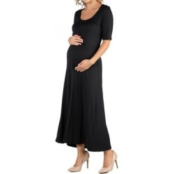 Casual Maternity Maxi Dress with Sleeves found on Bargain Bro Philippines from Overstock for $30.49