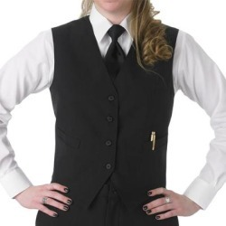 Henry Segal Women's Customizable Black Basic Server Vest - L found on Bargain Bro India from webstaurantstore.com for $14.99