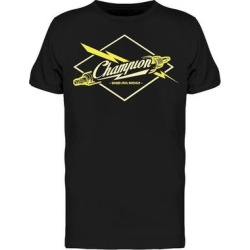 Champion Spark Plugs Service Tee Men's -Image by Shutterstock (S), Black found on Bargain Bro Philippines from Overstock for $14.99