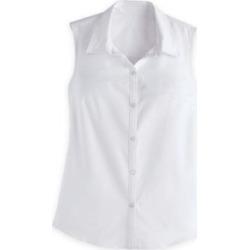 Women's Plus Fiesta Sleeveless Shirt, White 3XL found on Bargain Bro India from Blair.com for $31.99