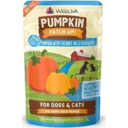 Weruva Pumpkin Patch Up! Pumpkin With Coconut Oil & Flaxseeds Dog & Cat Wet Food Supplement, 1.05-oz pouch, case of 12