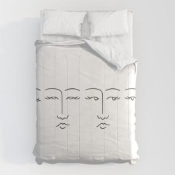 Comforters | Lady Faces by Dopetoast - Queen: 88