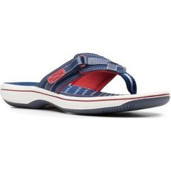 Clarks Breeze Sea Cloudstepper Women's Flip Flop Sandals, Size: 6, Blue found on Bargain Bro from Kohl's for USD $32.29