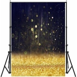 Photography Backdrop Studio Photo Prop 5' x 7' Golden Glitter Rain 27 found on Bargain Bro Philippines from Overstock for $33.57