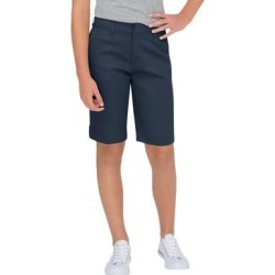 Dickies Women's Juniors' Schoolwear Classic Fit Bermuda Stretch Twill Shorts - Dark Navy Size 13 (KR7714) found on Bargain Bro from Dickies.com for USD $14.43