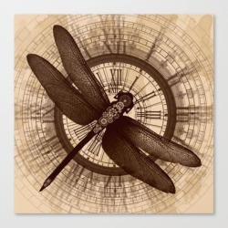 Canvas Print | Steampunk - Mechanical Dragonfly by Leodeshurlevent - LARGE - Society6 found on Bargain Bro from Society6 for USD $93.09