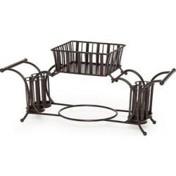 Mikasa Gourmet Basics Band & Stripe Buffet Flatware Caddy, Black found on Bargain Bro from Kohl's for USD $30.39