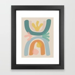 Framed Art Print   Just Before Summer by Urban Wild Studio Supply - Vector Black - X-Small-10x12 - Society6 found on Bargain Bro from Society6 for USD $23.40