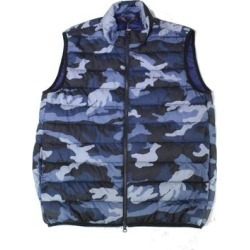Barbour Mens Jacket Blue Size Large L Full Zip Camo Quilted Vest Puffer (L), Men's(polyester) found on Bargain Bro India from Overstock for $98.98