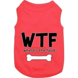 Parisian Pet Pet Tee Shirts Red - Red 'Where's The Food' Dog Tee found on Bargain Bro from zulily.com for USD $10.23