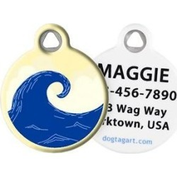 Dog Tag Art Surfer Personalized Dog & Cat ID Tag, Large