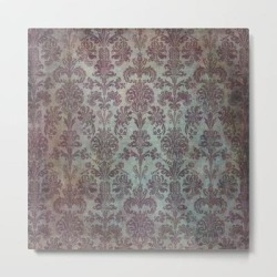 Metal Art Print   Damask Vintage Pattern 12 by Aloke Design - LARGE - Society6 found on Bargain Bro from Society6 for USD $88.30