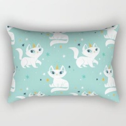 Rectangular Pillow   Magical Unicats! by There Will Be Cute - Small (17