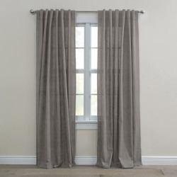 Wide Width Poly Cotton Canvas Back-Tab Panel by BrylaneHome in Charcoal (Size 48