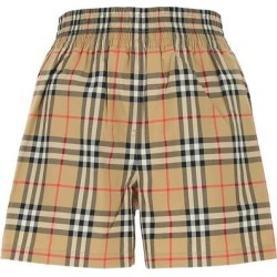 Side Stripe Vintage Check Shorts - Natural - Burberry Shorts found on Bargain Bro India from lyst.com for $472.00