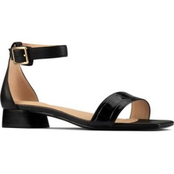 Clarks Sheer 25 Ankle Strap Sandal - Black - Clarks Flats found on Bargain Bro India from lyst.com for $130.00