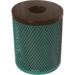 Ultraplay External Unit Receptacle 32 Gallon Trash CanStainless Steel in Gray/Green, Size 30.0 H x 23.5 W x 23.5 D in   Wayfair EX-32-G found on Bargain Bro Philippines from Wayfair for $589.43