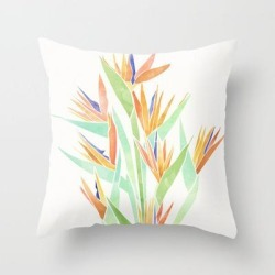 Couch Throw Pillow | Birds Of Paradise ~ Tropical Bouquet by Modern Tropical - Cover (16