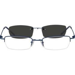 Zenni Men's Rectangle Prescription Glasses Half-Rim W/ Snap-On Sunlens Blue Stainless Steel Frame found on Bargain Bro Philippines from Zenni Optical for $19.00