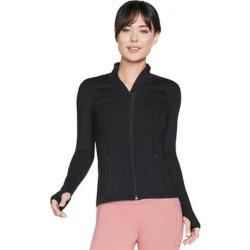 Skechers Gowalk Mesh Jacket Womens Jacket Full Zip - Black (1XL), Women's(nylon) found on Bargain Bro India from Overstock for $68.95