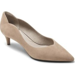 Rockport Women's Pumps NEW - Khaki Scallop-Accent Noelle Suede Pump - Women found on Bargain Bro Philippines from zulily.com for $29.99