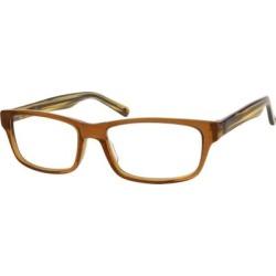 Zenni Women's Rectangle Prescription Glasses Brown Plastic Frame found on Bargain Bro from Zenni Optical for USD $14.44