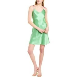 Dannijo Ruched Silk Mini Slip Dress (12), Women's, Green found on MODAPINS from Overstock for USD $110.00