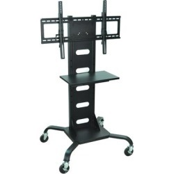 Luxor WPSMS51 Flat Panel TV Cart with Shelf for 37