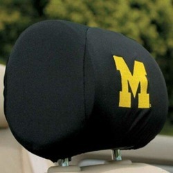 NeoPlex NCAA Car Head Rest Covers in Black/Yellow, Size 9.0 H x 12.0 W x 1.0 D in   Wayfair K82003= found on Bargain Bro Philippines from Wayfair for $36.99