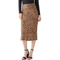 DL1961 Womens Bank ST Midi Skirt Silk Leopard Print - Leopard Print found on Bargain Bro India from Overstock for $79.94