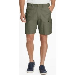 Men's Scandia Woods Relaxed-Fit Full-Elastic Cargo Shorts, Olive Green 38 found on Bargain Bro India from Blair.com for $26.99