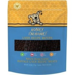 Honey I'm Home! Liver Recipe Wafers Buffalo Recipe Grain-Free Dog Treats, 5 count