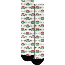 Spoontiques Socks Multicolored - Friends White & Green 'Central Perk' Socks - Adult found on Bargain Bro from zulily.com for USD $7.59