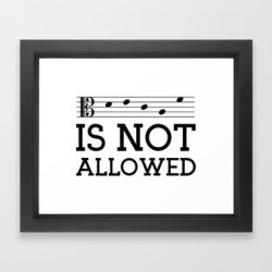 Framed Art Print | Decaf Is Not Allowed (alto Version) by A Musician On The Roof - Vector Black - X-Small-10x12 - Society6