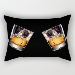 Rectangular Pillow | Whisky On The Rocks by Fantasyartdesigns - Small (17