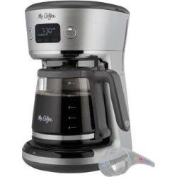 Mr. Coffee Easy Measure 12 Cup Programmable Coffee Maker in Black/Brown, Size 14.6 H x 11.3 W x 9.4 D in | Wayfair 2132593