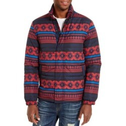 American Rag Mens Puffer Jacket Blue Red Small S Montana Stripe Zip-Up found on Bargain Bro Philippines from Overstock for $54.98