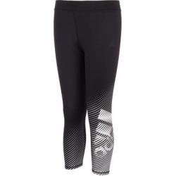 adidas Girls' Leggings BLACK - Black & White Stripe Logo Innovation Leggings - Girls found on Bargain Bro Philippines from zulily.com for $21.99