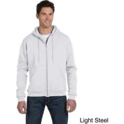 Champion Men's 9-ounce Eco 50/50 Blend Full-zip Jacket (L,light steel), Gray(cotton) found on Bargain Bro Philippines from Overstock for $29.99